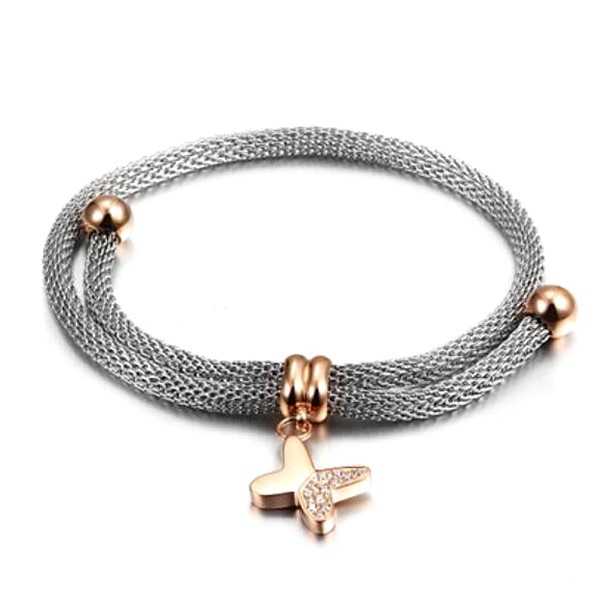 JaneE gold plated women's stainless steel bracelets wholesale for women-5