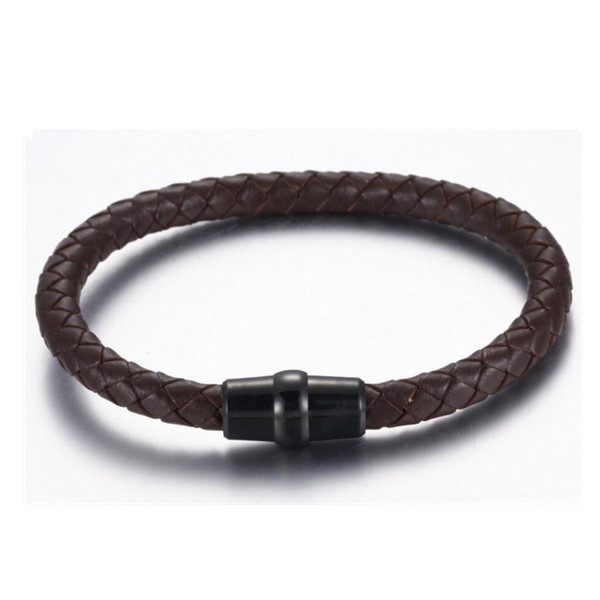 custom made bangle for men with genuine leather strap hot selling for gift-6