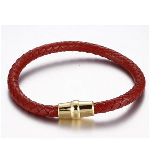 Custom Amazon Men's Simple Classic Genuine Leather Bracelets