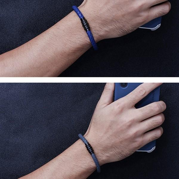 Vintage Colors Leather Bracelet for Men and Women Jewelry