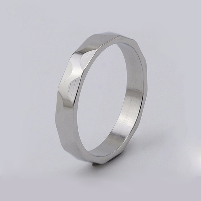 customized stainless steel promise rings for him plating fashion design for decoration-1