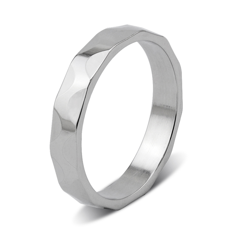 customized stainless steel promise rings for him plating fashion design for decoration-3