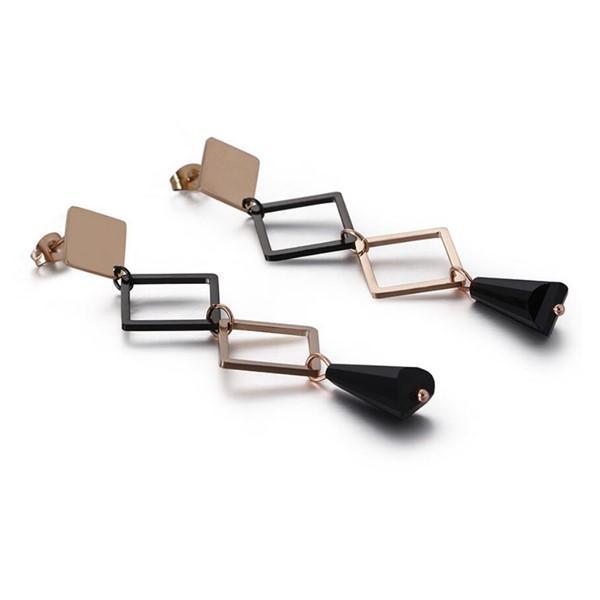 Acrylic Women Tassel Pendant Earrings