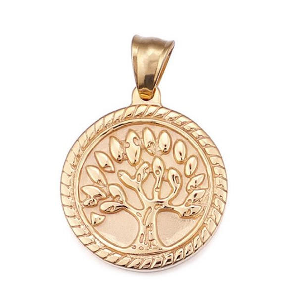 Peace and Lover Tree Stainless Steel Necklace Bracelet Pendant Charm for Men Women