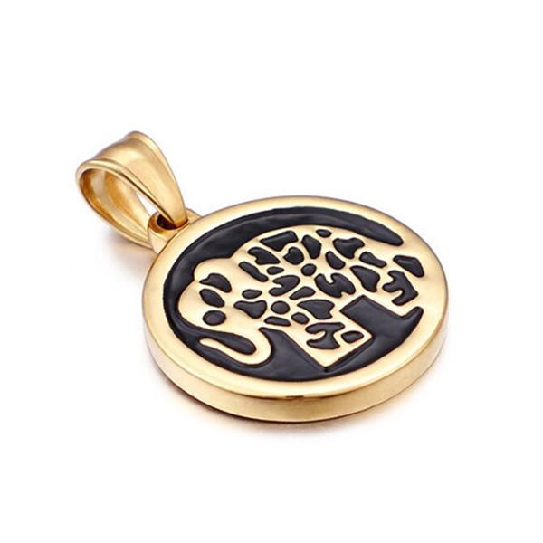 Animal Elephant Pendant Surgical Stainless Steel Jewelry for Men Women