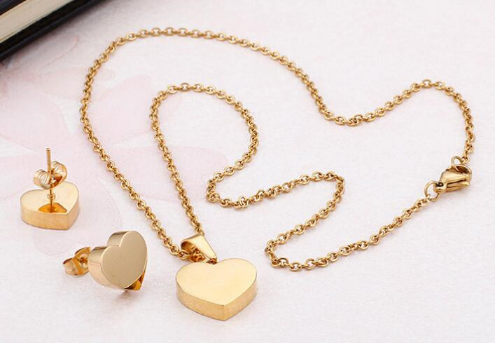 JaneE rose gold stainless steel necklace pendants beautiful for festival gifts-3