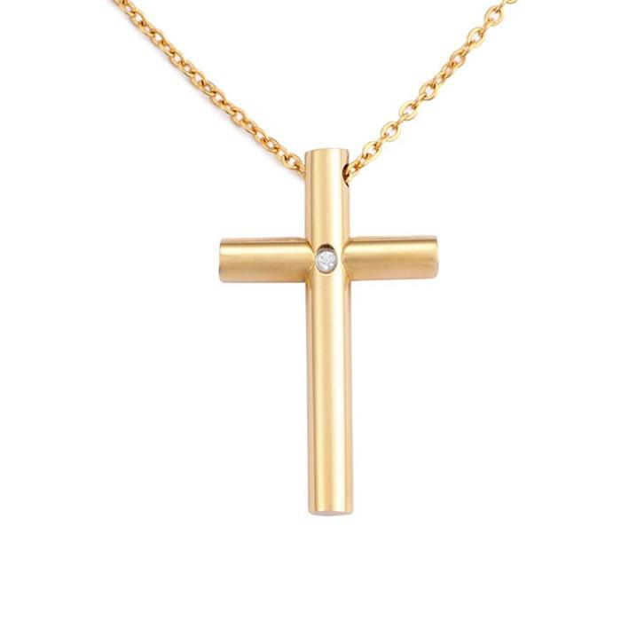 Men Fashion Hip Hop Jewelry Surgical Stainless Steel Cross Pendants Charm