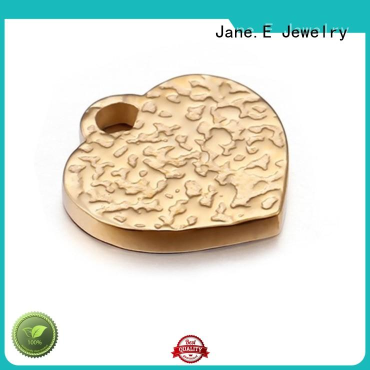 JaneE fashion 316l stainless steel pendant black plated for necklace