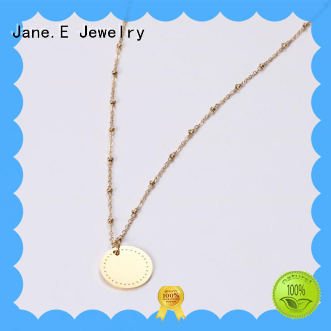 JaneE brushed surface black stainless steel necklace different dimension for gift