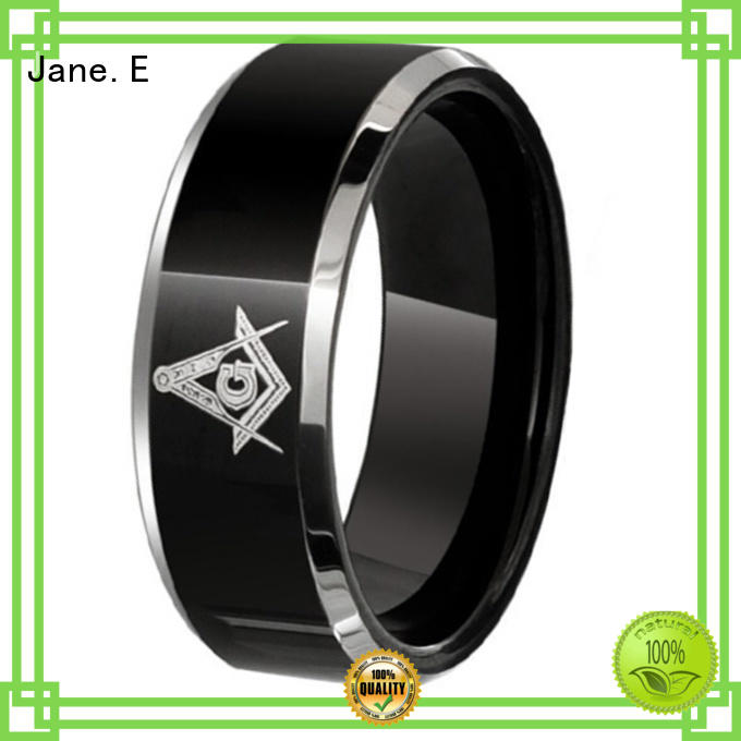 JaneE shiny polished tungsten wedding bands for her exquisite for gift