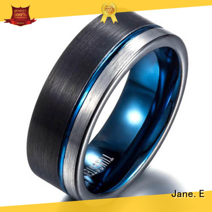 JaneE two tones mens tungsten carbide wedding bands exquisite for gift
