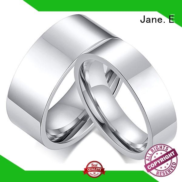 sparkle sandblasting titanium rings for women polished edge factory direct for anniversary