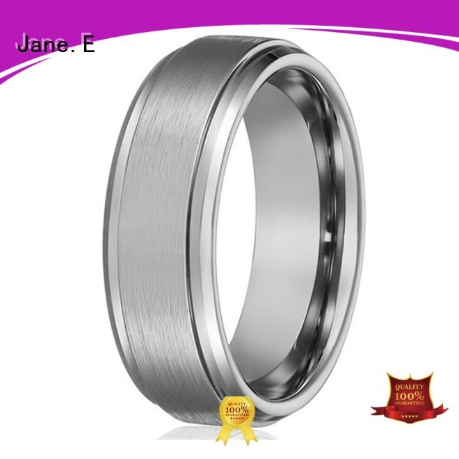 multi colors tungsten carbide engagement rings koa wood engraved for wedding