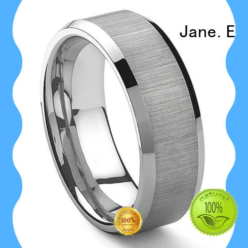 JaneE traditional tungsten band exquisite for engagement