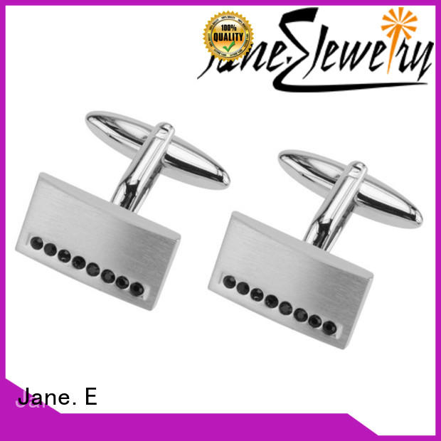 JaneE etched logo personalised cufflinks supplier