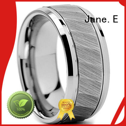 JaneE red opal tungsten band exquisite for wedding