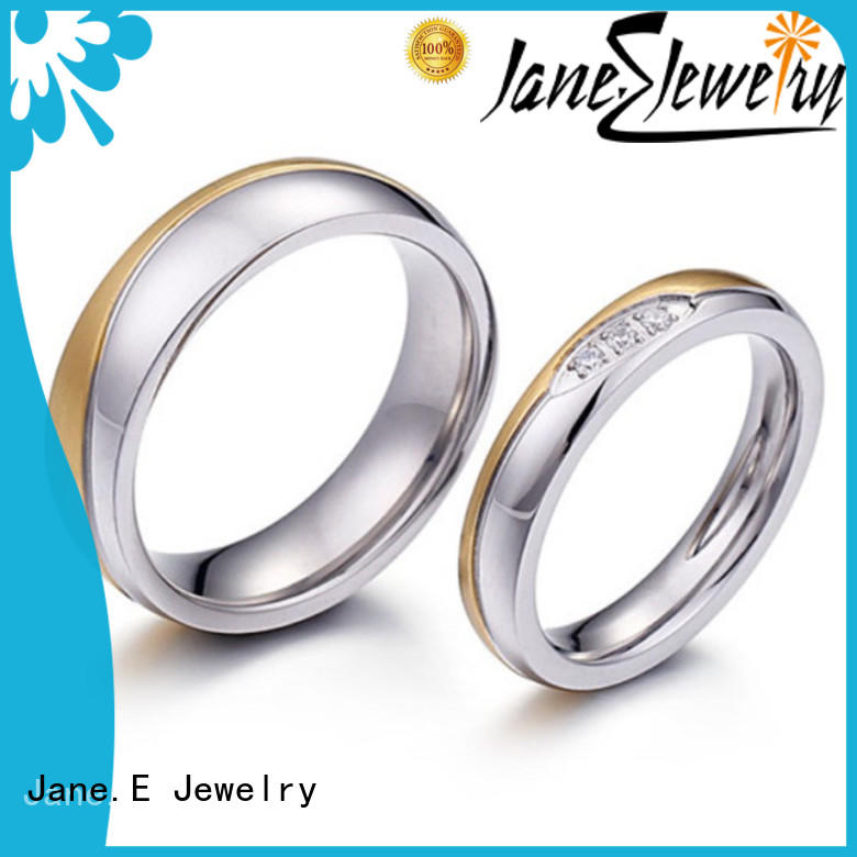 JaneE customized stainless steel ring comfortable for men