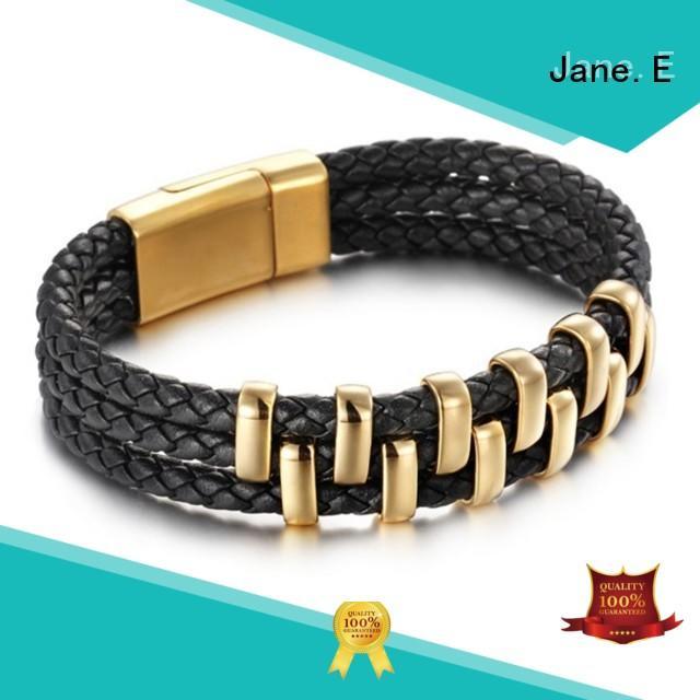 JaneE manual polishing stainless bracelet wholesale for hands wear