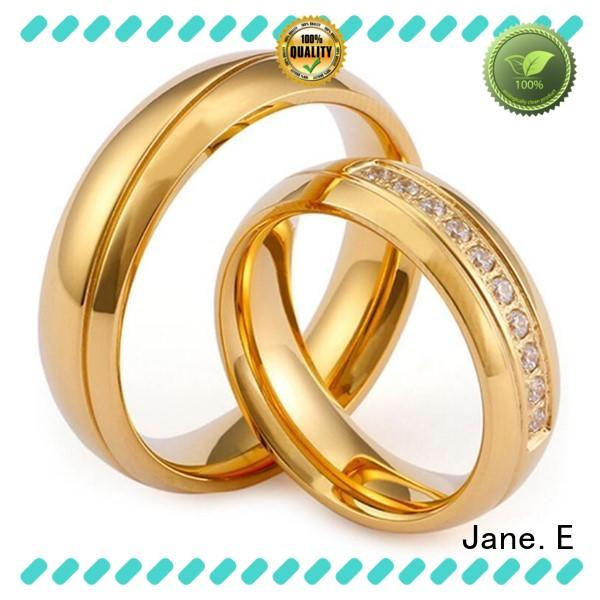 JaneE plating stainless steel ring blanks top quality for men