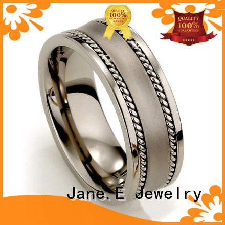 JaneE for wood crafts titanium engagement rings for her simple for wedding
