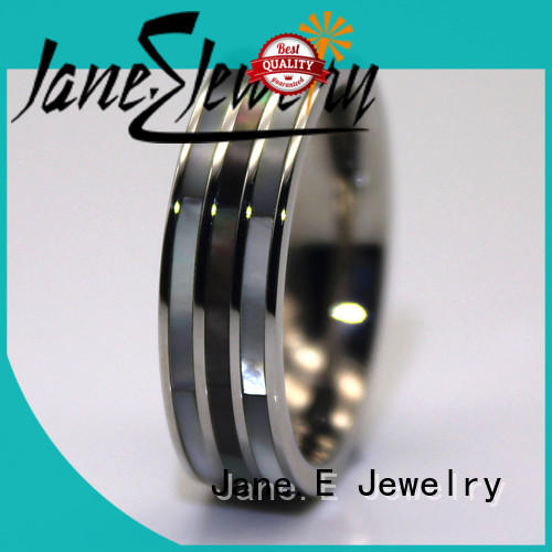 JaneE rose gold stainless steel couple rings top quality for weddings