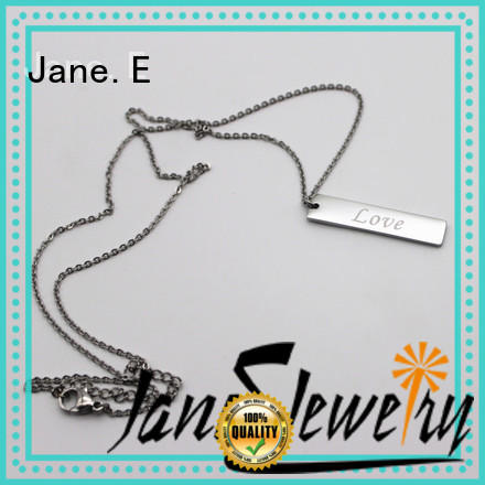 JaneE aromatherapy stainless steel personalized necklace factory direct manufacturer