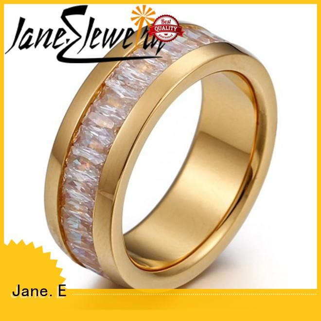 customized simple stainless steel rings 18k gold fashion design for men