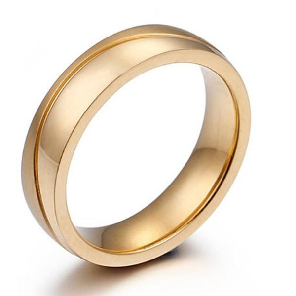 JaneE customized stainless steel rose gold ring fashion design for men-3