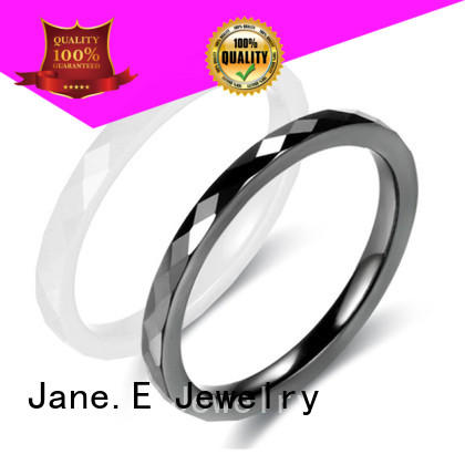 JaneE fashion ceramic wedding ring factory direct manufacturer