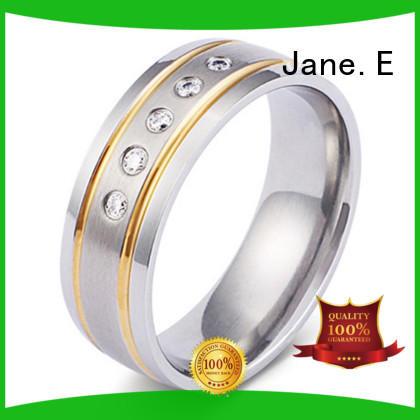 silver titanium rings for women center beveled wholesale for engagement