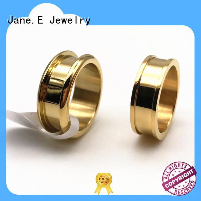 JaneE rose gold men's wedding band multi colors for men