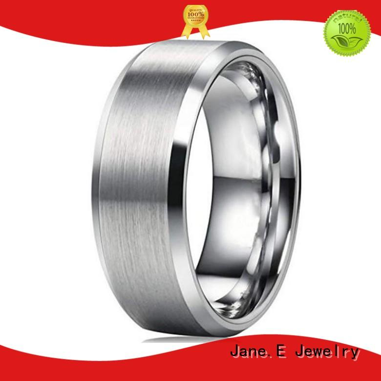Cheap Brushed Matte Plain 8mm 316L Stainless Steel Men Ring