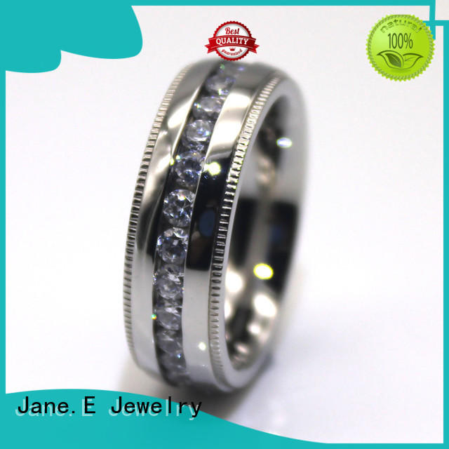 JaneE plated men's wedding band fashion design for decoration