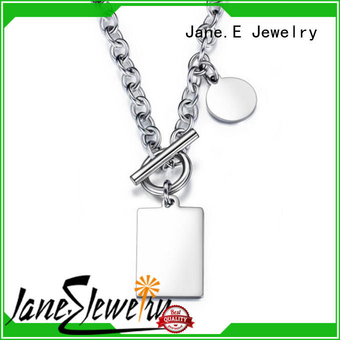 JaneE polished surface stainless necklace different dimension manufacturer
