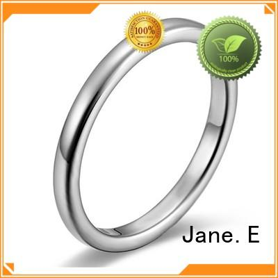 JaneE blue mens stainless rings fashion design for men