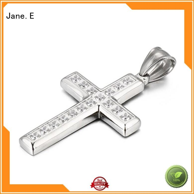 JaneE manual polishing stainless steel pendant for men beautiful for men