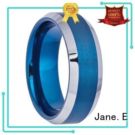 JaneE multi colors mens tungsten carbide wedding bands matt for engagement