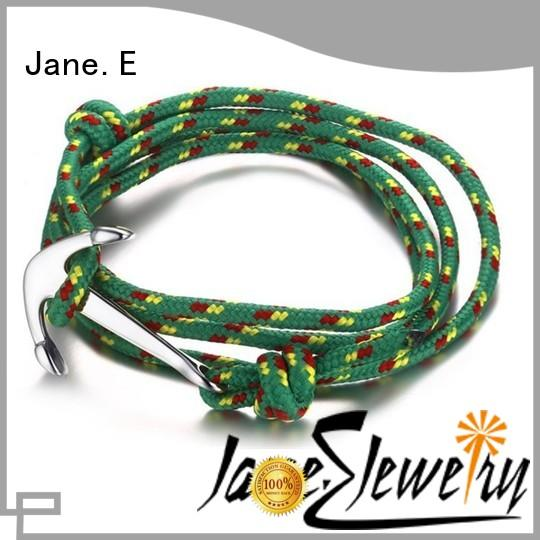 JaneE colorful rope bracelet custom made for anniversary