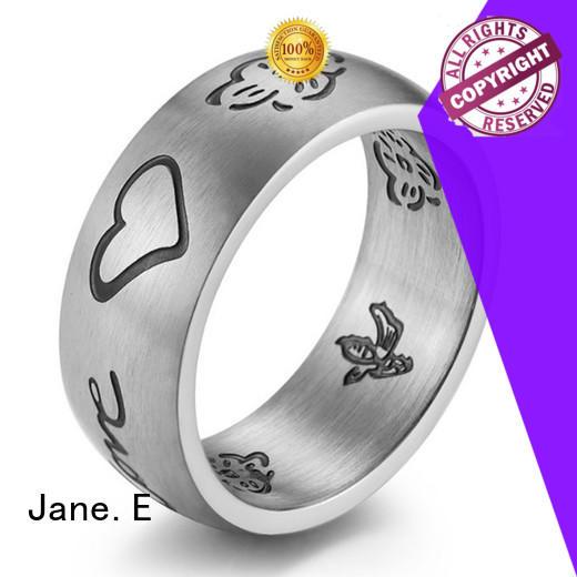 JaneE customized ladies stainless steel rings comfortable for men