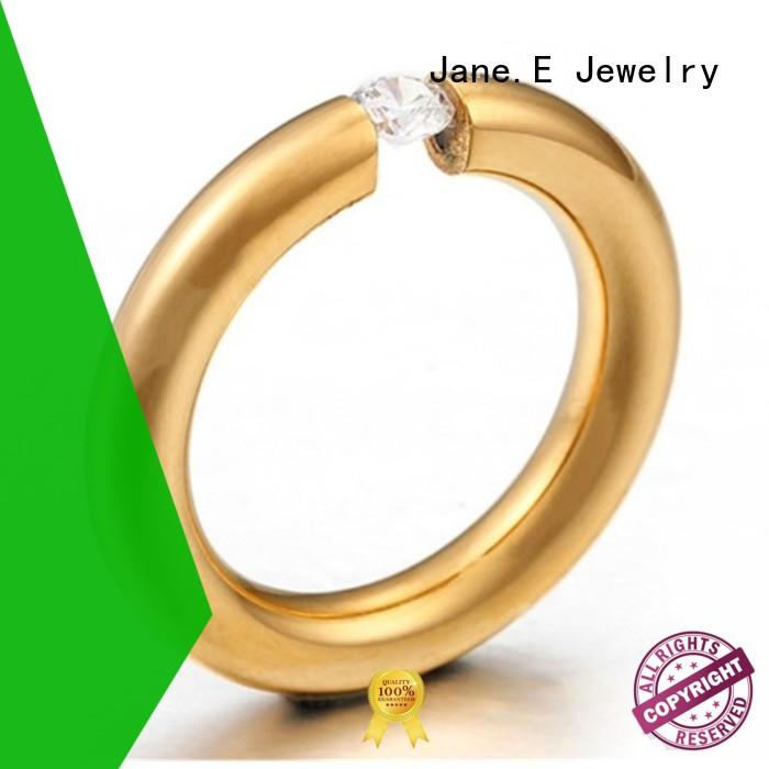JaneE customized steel ring fashion design for men