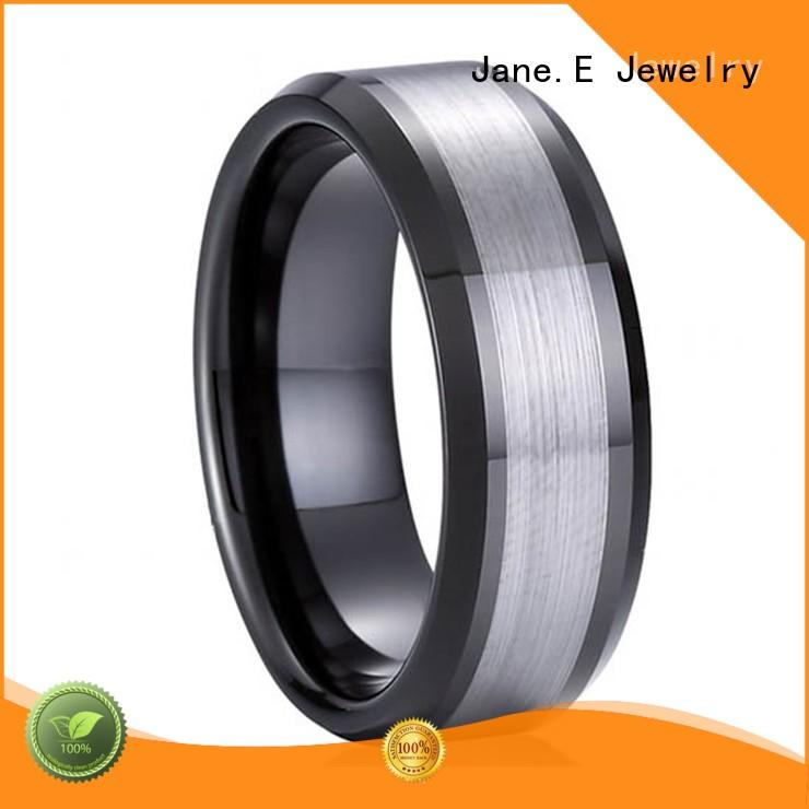 multi colors wood inlay wedding band inlay brushed matt for gift