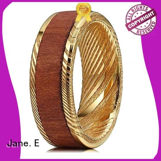brushed finish damascus steel ring blanks wholesale for inlay JaneE