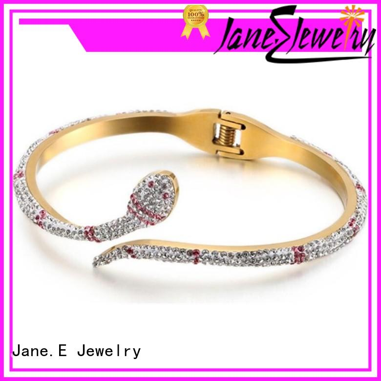 JaneE leather custom bracelets hot selling for party