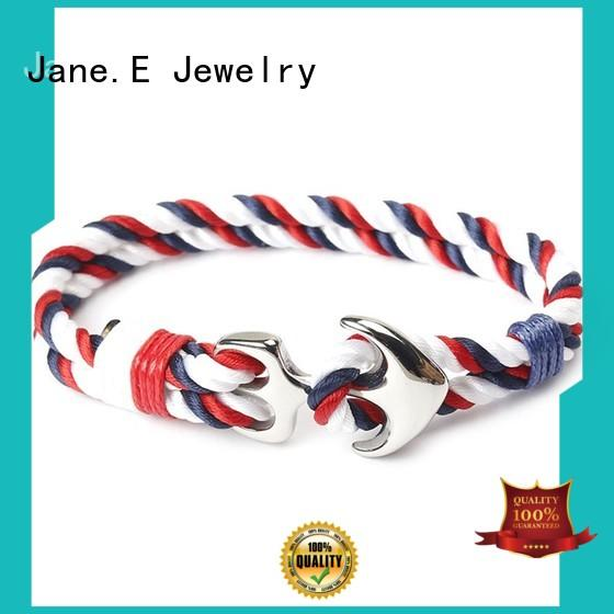 JaneE adjustable wrist rope bracelet colorful for women