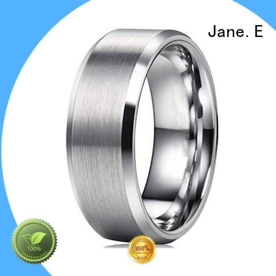 JaneE blue stainless steel rings for her multi colors for weddings