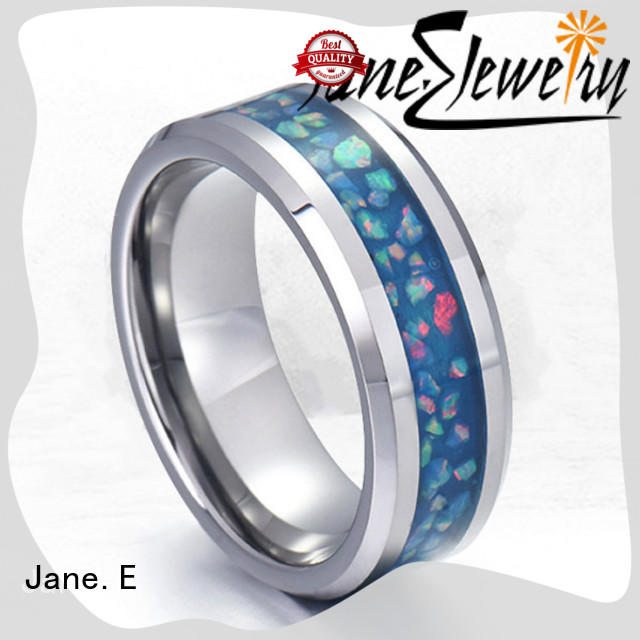 customized stainless steel couple rings AAA CZ Stones comfortable for decoration