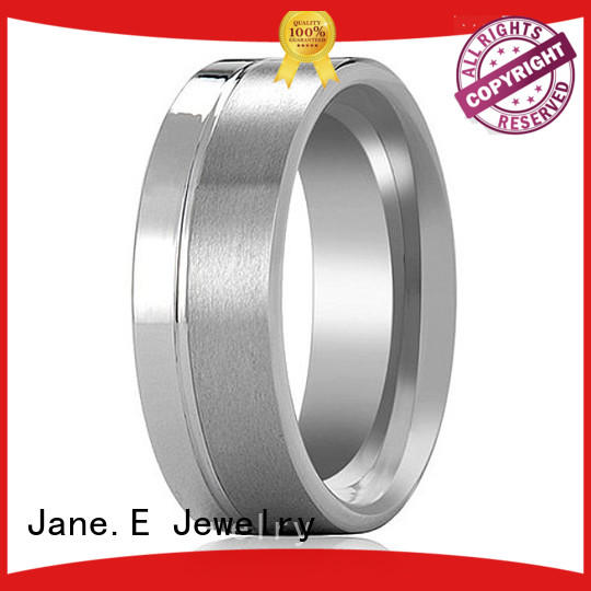 JaneE traditional tungsten gold wedding bands exquisite for wedding