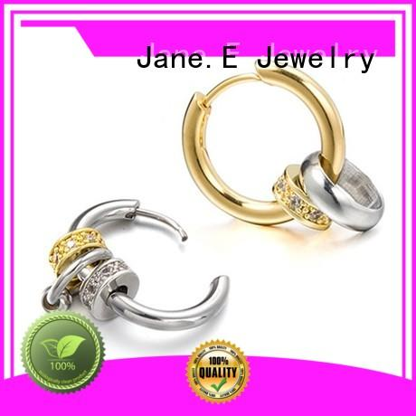 JaneE cuff hoop surgical stainless steel earrings comfortable for women