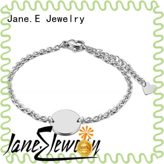 JaneE women's stainless steel bangle bracelet manual polishing for decoration