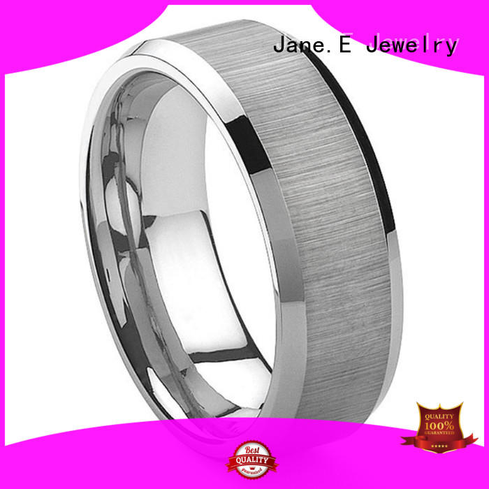 unique design tungsten wedding band red opal matt for engagement